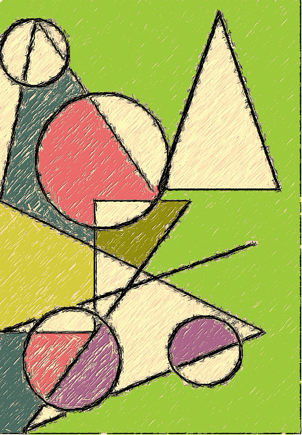 Роспись геометрическими фигурами